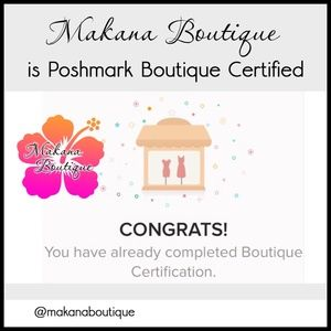 Shop with Confidence - Boutique Certified!
